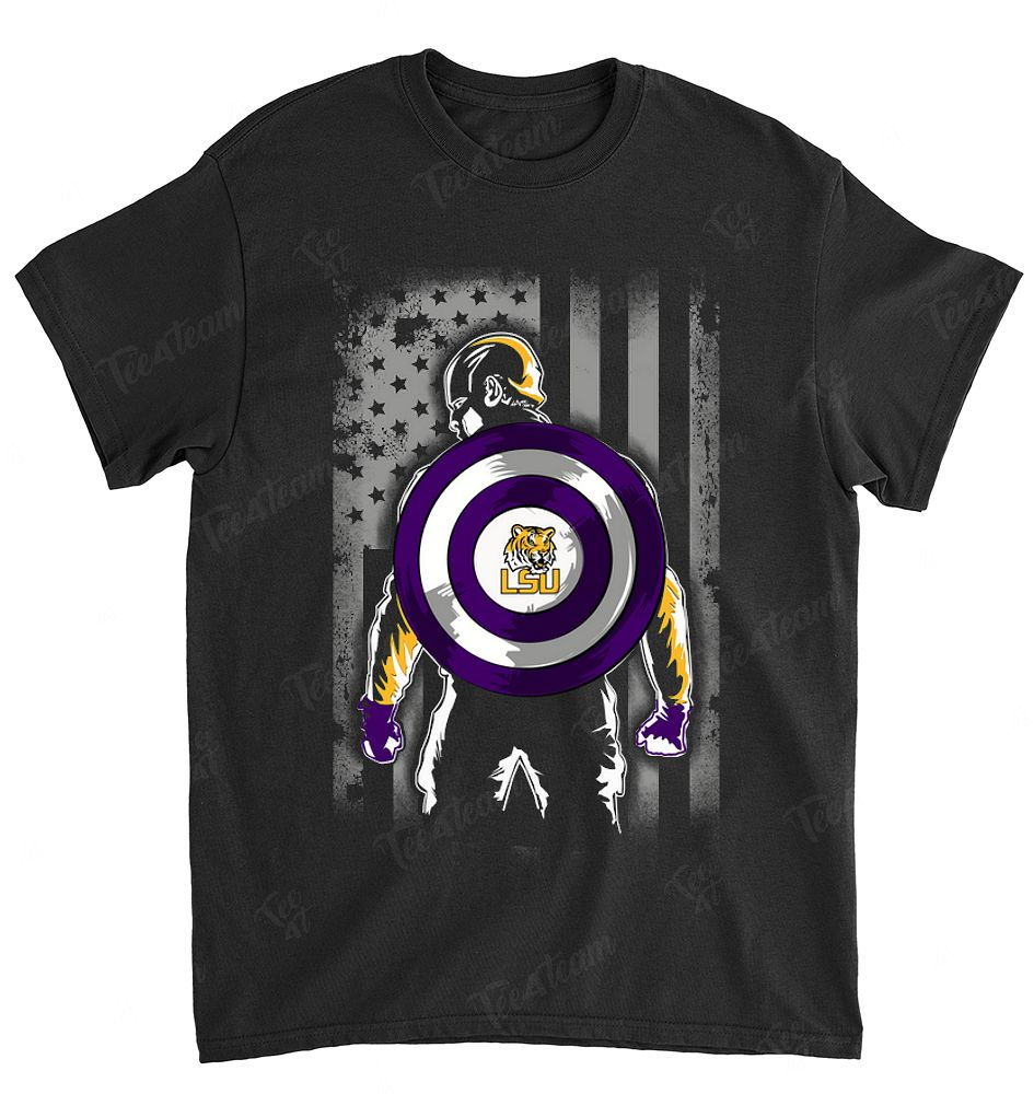 NCAA Lsu Tigers 017 Captain Dc Marvel Jersey Superhero Avenger