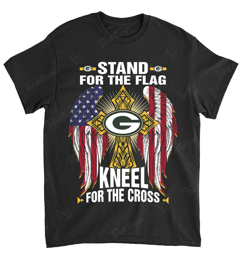 NFL Green Bay Packers 000 Stand For The Flag Knee For The Cross