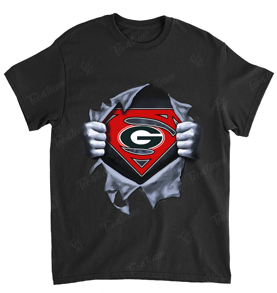 NCAA Georgia Bulldogs 071 Superman Logo Dc Marvel Jersey Superhero Avenger
