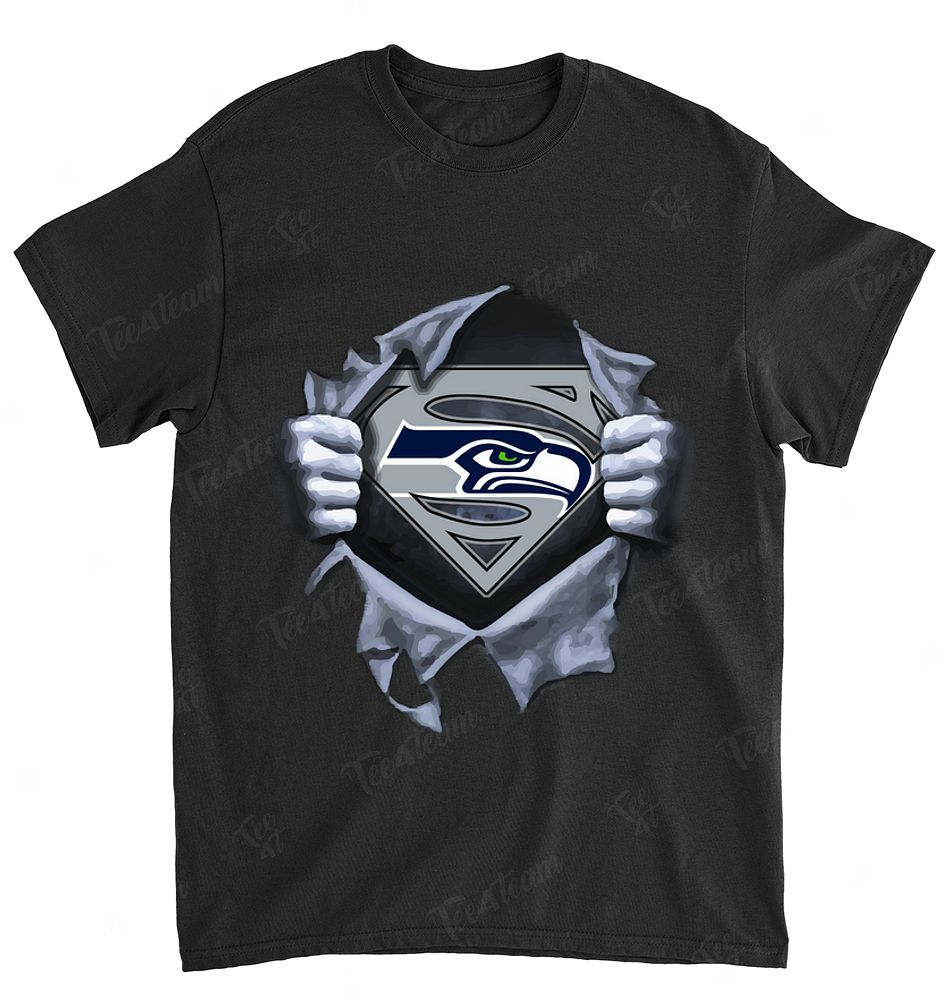 NFL Seattle Seahawks 071 Superman Logo Dc Marvel Jersey Superhero Avenger