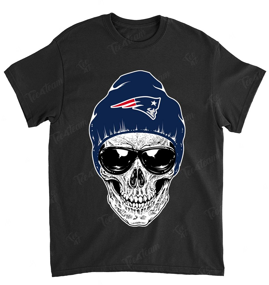 NFL New England Patriots 079 Skull Rock With Beanie