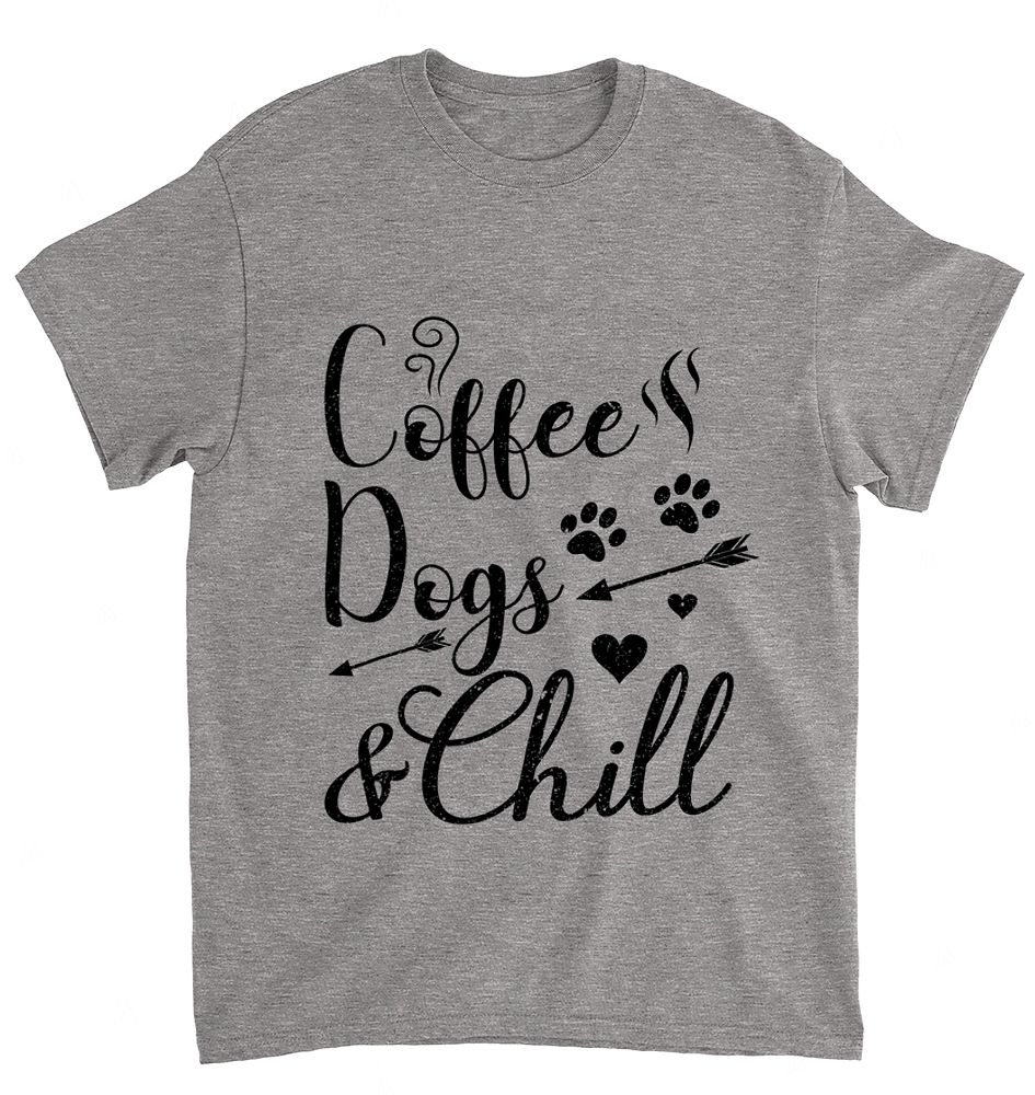 COFFEE DOGS AND CHILL TSHIRT I I Love Relaxing With Dogs