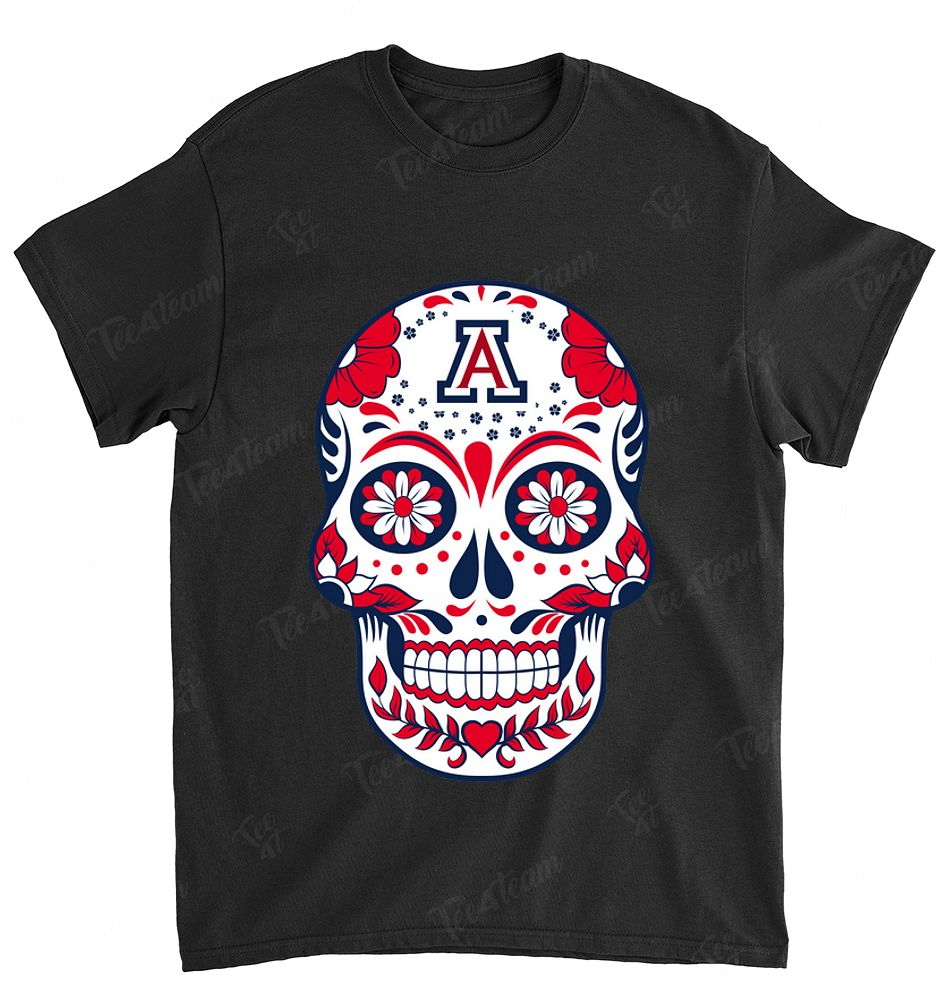 NCAA Arizona Wildcats 081 Skull Rock With Flower