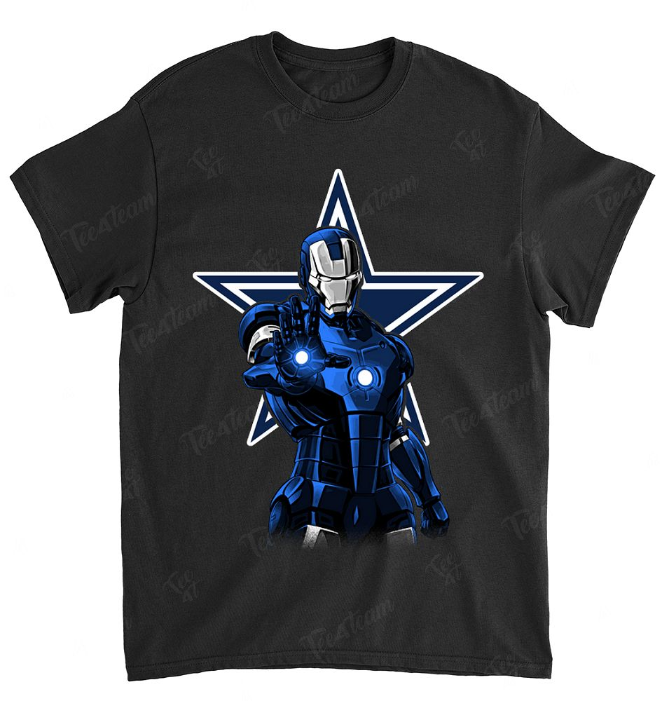 NFL Dallas Cowboys 018 Ironman Dc Marvel Jersey Superhero Avenger