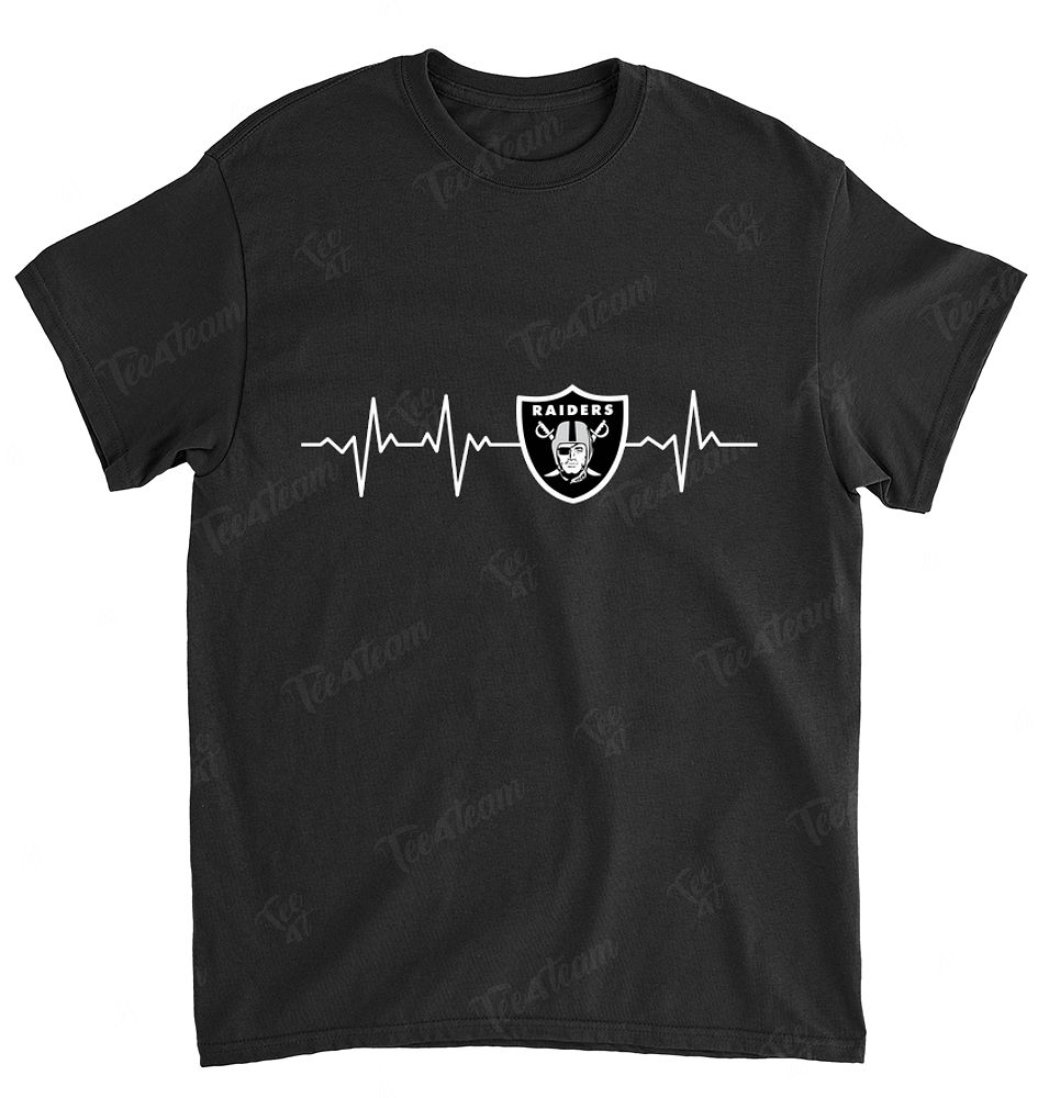 NFL Oakland Raiders 051 Heartbeat With Logo